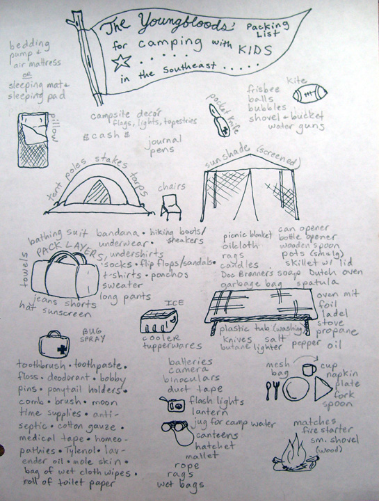 Camping With Kids Packing List